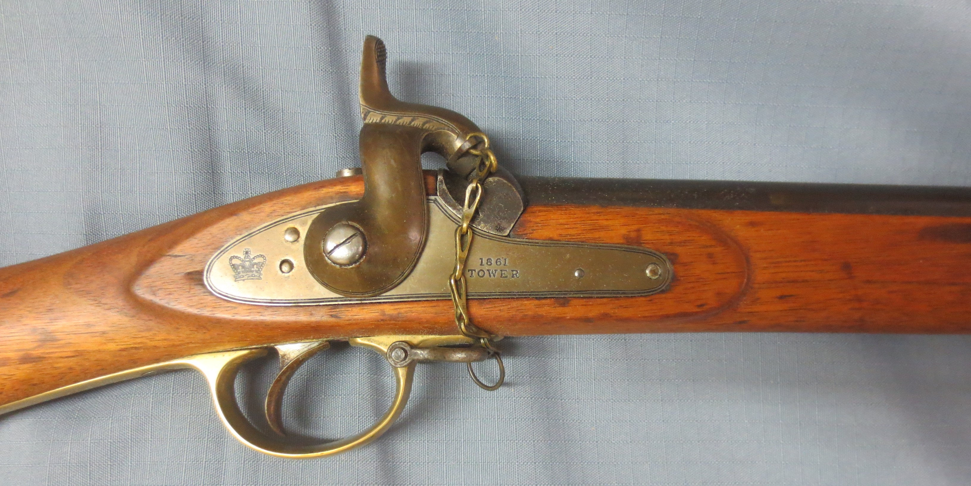 Pristine imported Tower Enfield Naval Pattern rifled musket, 1861 dated